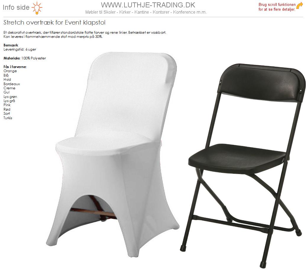 Hvid overtræk til Event klapstole