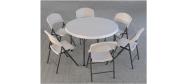 Klapstole med rund Ø118 cm bord