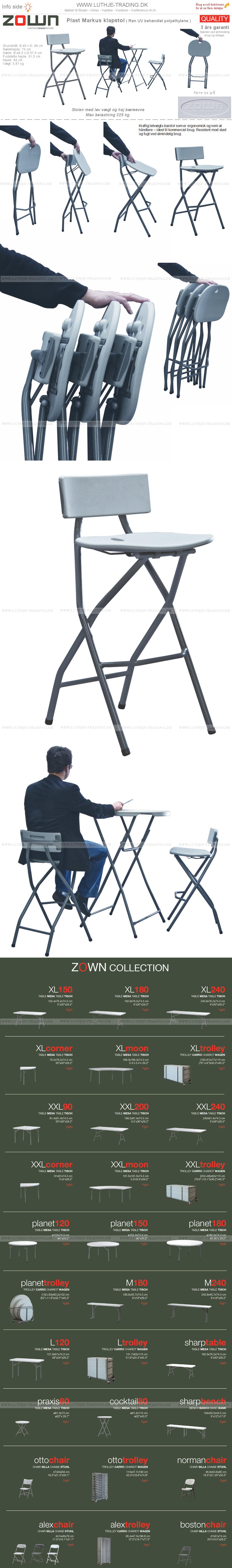 ZOWN Markus høj klapstole